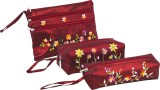 Asian Artisans Cosmetic Pouch (Red)