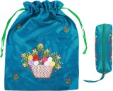 Asian Artisans Cosmetic Pouch (Blue)