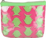 Needlecrest Cosmetic Pouch (Green, Pink)