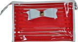 Priya Exports Cosmetic Pouch (Red)