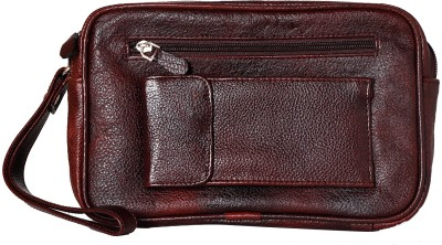 RLE Multi Utility Brown Geniune Leather Pouch