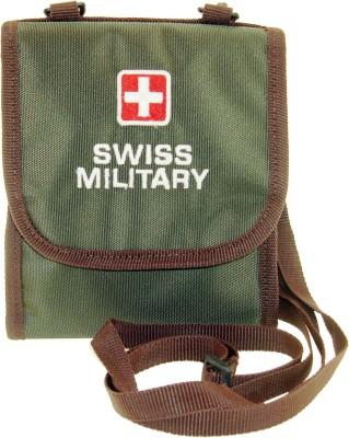 Swiss Military Men Travel Green Fabric Wallet