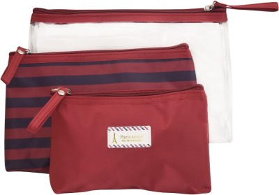 Obvio Transline set of 3 pouches red(Red)