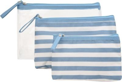 Obvio Transline set of 3 pouches blue(Blue)