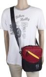 Layout Waist Bag (Black, Maroon)