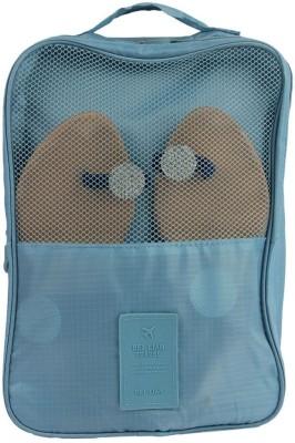 Uberlyfe Portable Waterproof Travel Shoe Bag cum Organizer - Blue