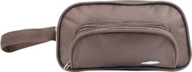PSH three fold with D pocket Travel Shaving Bag(Brown)