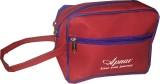 Apnav Rubber R Travel Shaving Bag (Red, ...