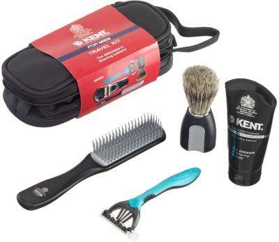 Kent Big Wet Set Travel Shaving Kit & Bag