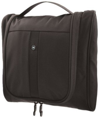 Victorinox Lifestyle Accessories 4.0 Hanging Cosmetic Case With Essentials Organizer Travel Toiletry Kit(Black)