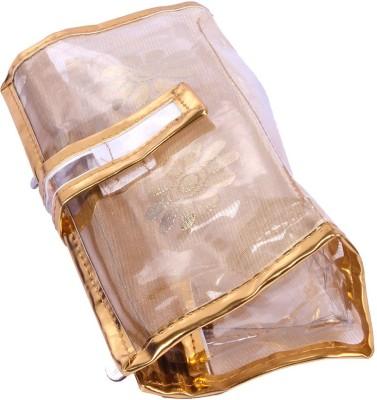 PRETTY KRAFTS Vanity / Shaving kit small | Make up kit Transparent with Golden Border Travel Toiletry Kit