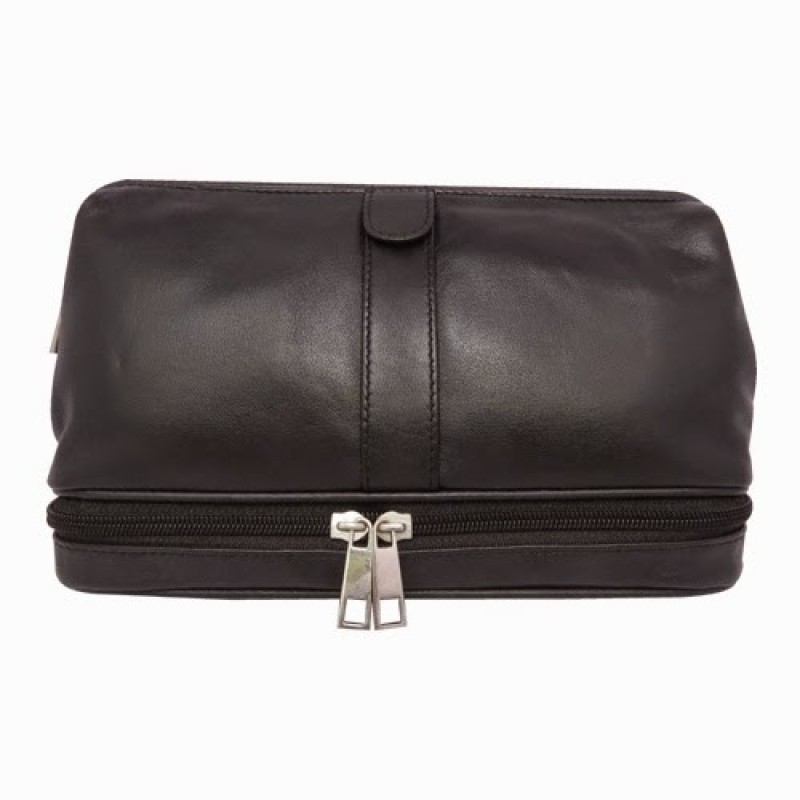 Chimera Leather 3608 Travel Toiletry Kit(Black)