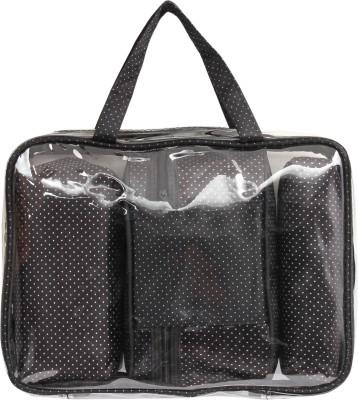Priya Exports Black & White Small Polka Travel Toiletry Kit