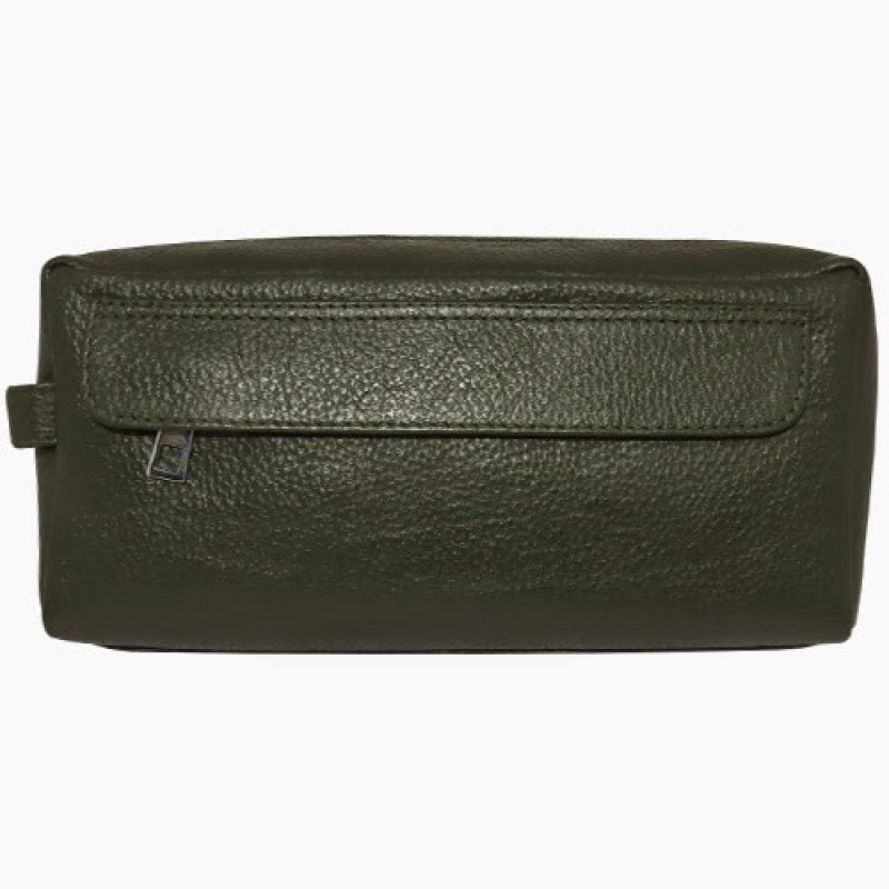 Chimera Leather 3635 Travel Toiletry Kit(Green)