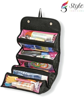 Style Feathers SF-Roll-n-go-kit-Black Travel Toiletry Kit
