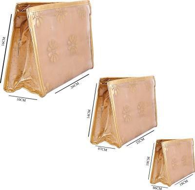 Arishakreationco AK-1081 Golden Travel Toiletry Kit
