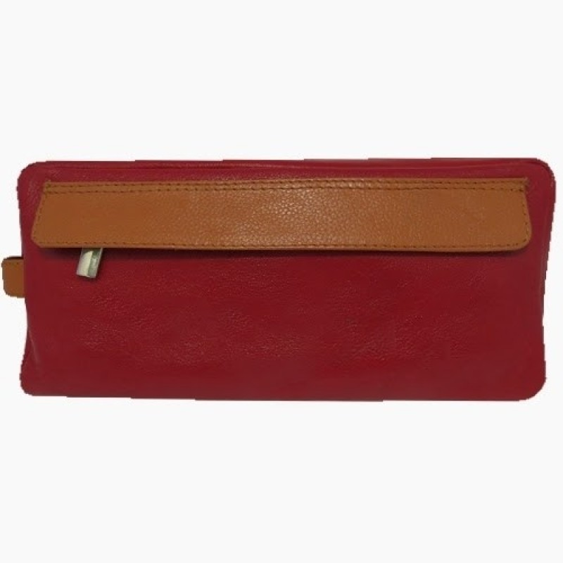 Chimera Leather 3614 Travel Toiletry Kit(Red)
