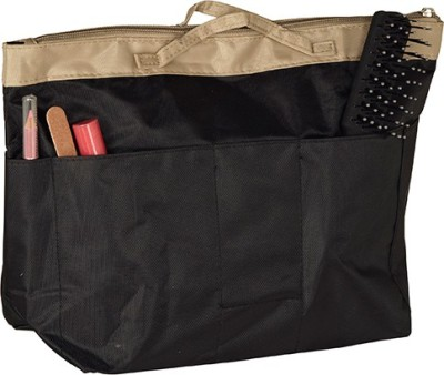 Howards Handbag Organizer accessories and Cosmetic Pouch with Zip Black Travel Toiletry Kit