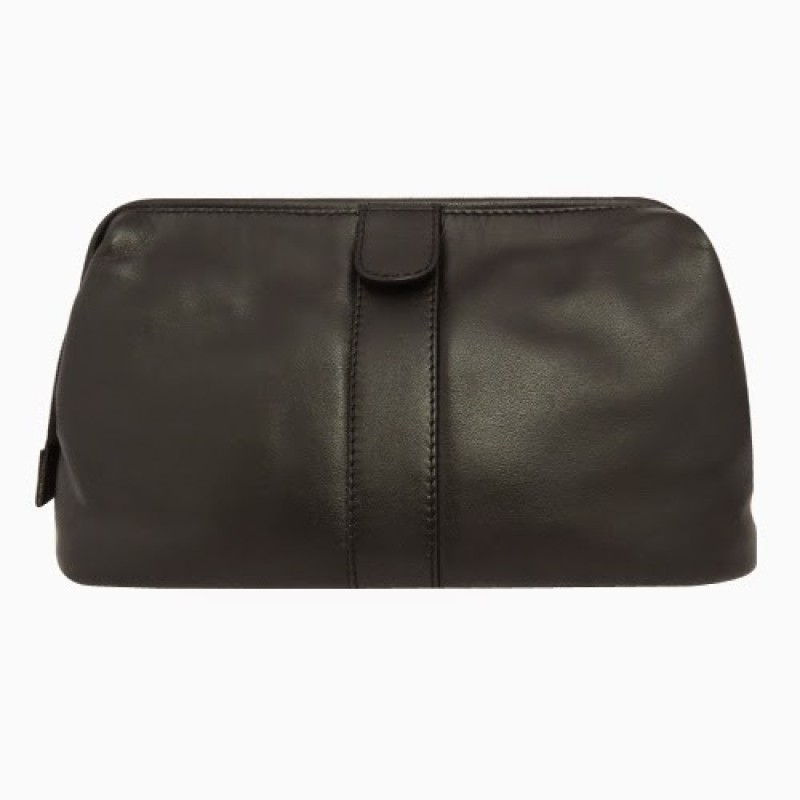 Chimera Leather 5263 Travel Toiletry Kit(Black)