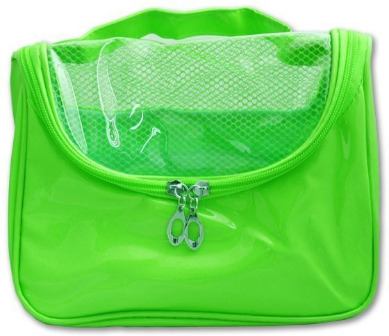 Italish Portable Cosmetic Make Up Toiletries Bag Organizer Travel Toiletry Kit(Green)