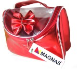 Magnas Hi-Design Red Shiny Cosmetic Bag ...