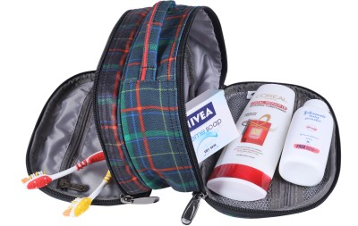 BagsRus Large Striped Travel Toiletry Kit