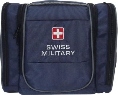 Swiss Military Utility Toilet Bag Travel Toiletry Kit(Blue)