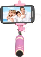 Cezzar Fashion Mini Pocket Selfie Stick for iPhones, Samsung, Panasonic P81, Lenovo A7000, Moto G (2nd Gen) Monopod(Pink, Supports Up to 300 g)