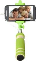 Cezzar Fashion Mini Pocket Selfie Stick for iPhones, Samsung, Panasonic P81, Lenovo A7000, Moto G (2nd Gen) Monopod(Green, Supports Up to 300 g)
