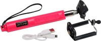 Gizmo Selfie Stick With Zoom Feature Selfie Stick(Pink, Supports Up to 500 g)
