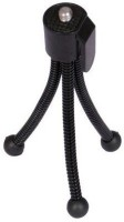 Techvik Universal Flexible Mini Pocket Metal Tripod Stand for Digital Camera Webcam mobile phones Tripod(Black, Supports Up to 400 g)