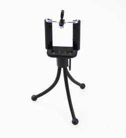 True Deal Universal Flexible Mini Pocket Metal Stand for Digital Camera Webcam mobile phones Tripod(Black, Supports Up to 400 g)