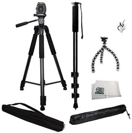 SSE 3 Piece Best Value Tripod Package For Sony NEX-5, A65, A77, A77ii, a7s, a6000, a5100, a5000, a3000, A99, A65, A35, A55, A57, A58, A33, A37, A380, NEX-5, Nex5tl, NEX-6, NEX-7, A230, A390, A380, A500, A280, A290, A330, A450, A500, A850, A550, A560, A580, A700, A850, A900, DSLR-A350, DSLR-A100, DSL