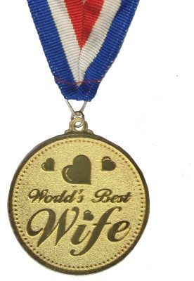 Atpata Funky World's Best WIFE Gold Medal Medal