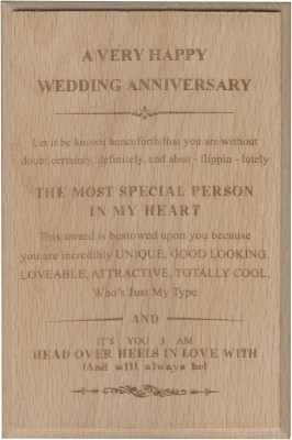 Atpata Funky HAPPY ANNIVERSARY Certificate Award Trophy(S)
