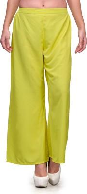 Natty India Regular Fit Women's Yellow Trousers