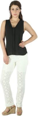 Fashionwardrobe Regular Fit Women's Cream Trousers