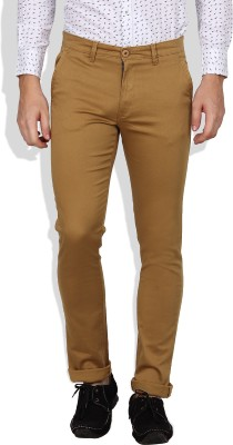 I-Voc Slim Fit Men's Brown Trousers