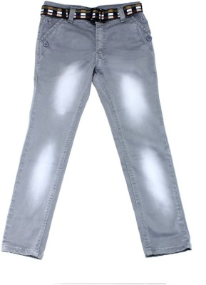 Scary Slim Fit Boy's Grey Trousers