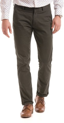 Izod Slim Fit Men's Brown Trousers
