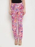 The Vanca Slim Fit Women's Purple Trouse...