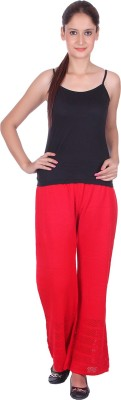 eWools Slim Fit Women's Red Trousers