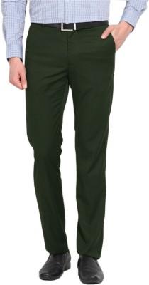 AD & AV Regular Fit Men's Dark Green Trousers