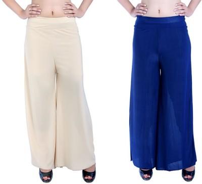 Ajaero Regular Fit Women's Gold, Dark Blue Trousers