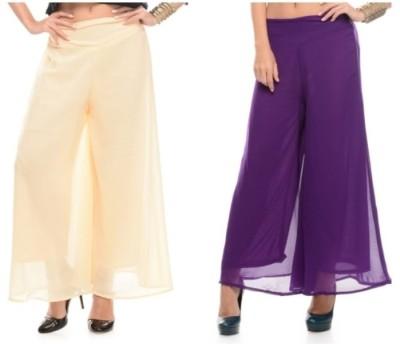 Kyron Regular Fit Women,s Beige, Purple Trousers
