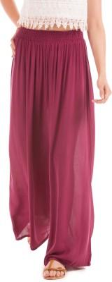 Prym Slim Fit Women's Maroon Trousers