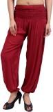 Rajrang Slim Fit Women's Red Trousers