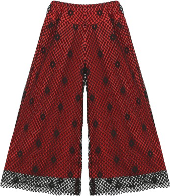 Kittybitty Regular Fit Girl's Red Trousers