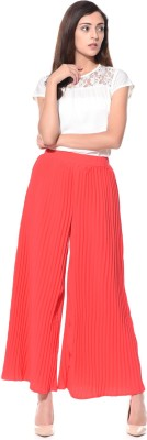 Uptownie Lite Regular Fit Women's Orange Trousers at flipkart