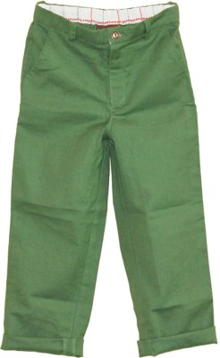 My Little Lambs Regular Fit Baby Boys Dark Green Trousers